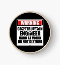 Reloj Advertencia Construction Engineer Hard At Work No molestar