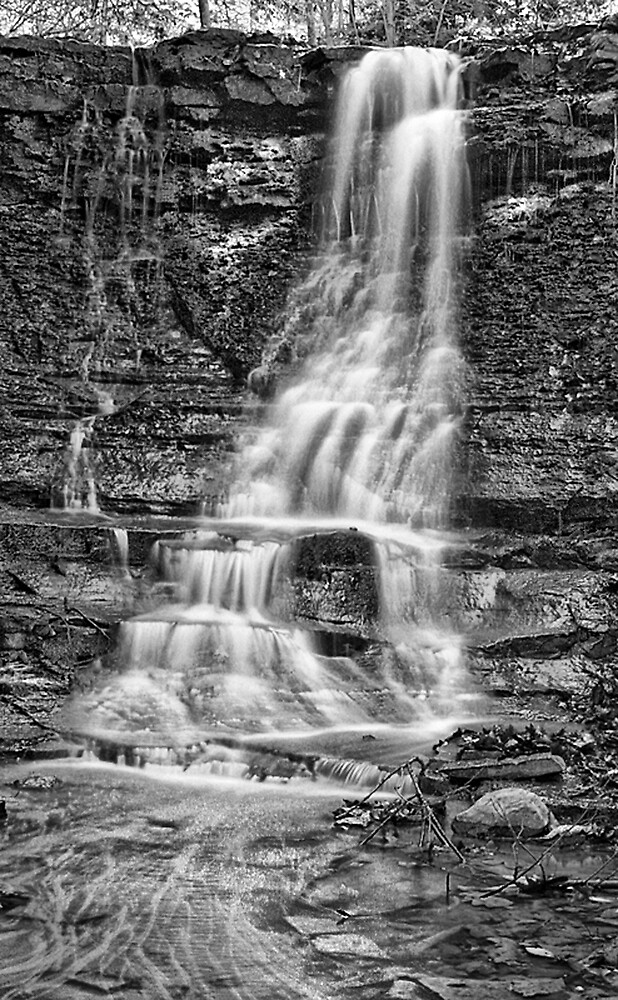 Black and White Falls by GPMPhotography