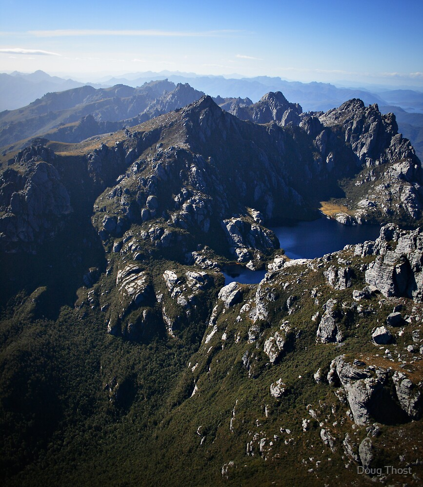 Western Arthurs Range, South-west Tasmania by Doug Thost