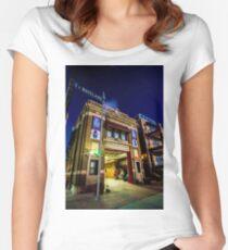 Empty firehouse by Wrigley Field  Women's Fitted Scoop T-Shirt