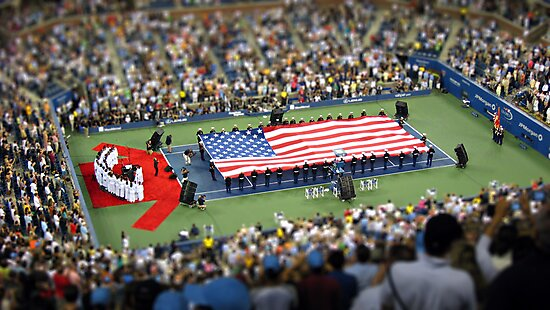 US Open final.... in minature.... by hazy