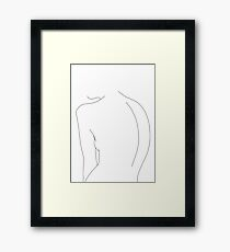 Nackte hintere Linie Zeichnungsillustration - Alex Gerahmtes Wandbild