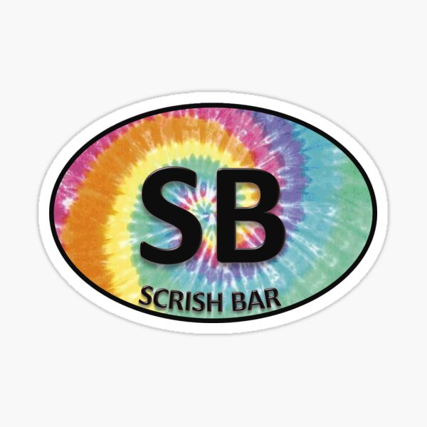 Scrish Bar Oval Sticker