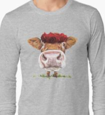 Cute Cow With Roses T-Shirt