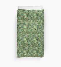 Protea Batik Hawaiian Tropical Floral - Moss, Turq & Lime Duvet Cover