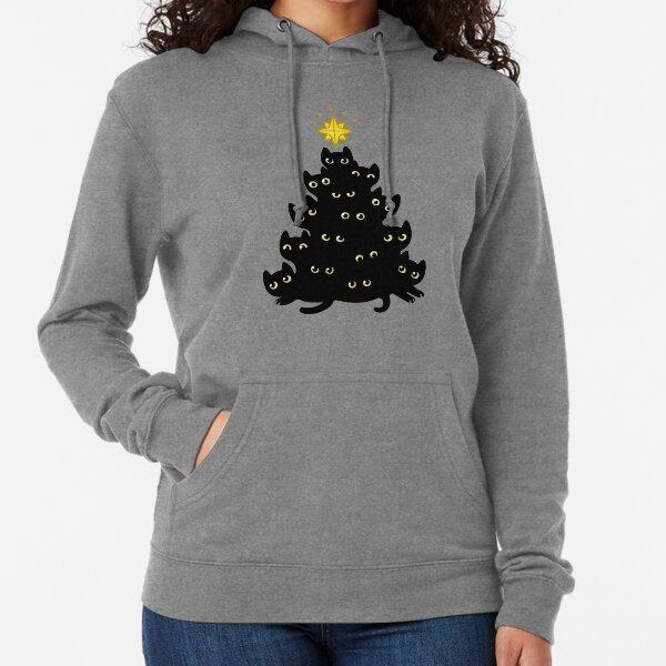 Meowy Christmas Lightweight Hoodie