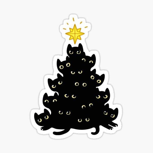 Meowy Christmas Sticker