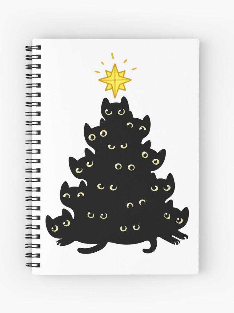 Meowy Christmas.Meowy Christmas Spiral Notebook