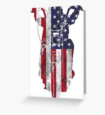 American Chopper Motorcycle T Shirt  Greeting Card
