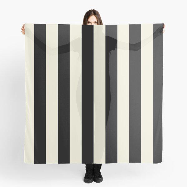 Cream and Black Vertical Stripes Scarf