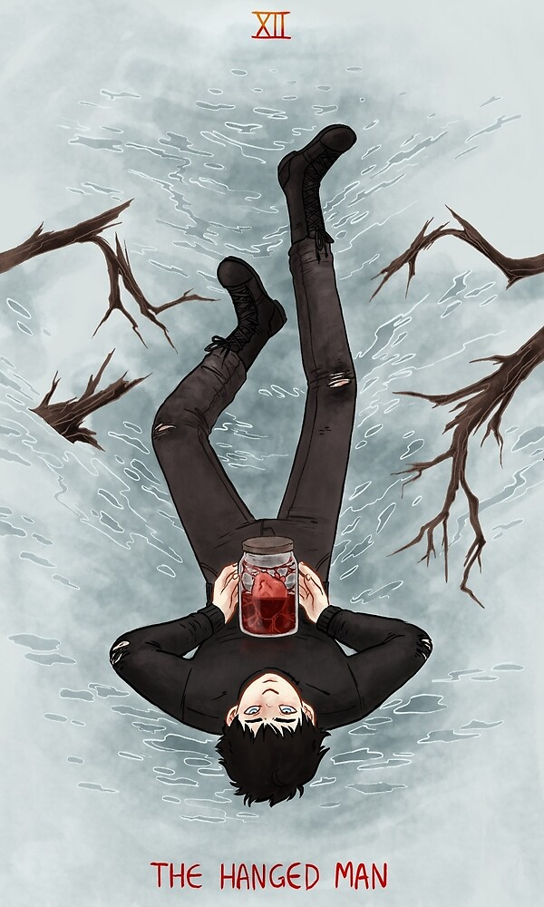 Toothy Tarot: Micah (The Hanged Man) by Livali Wyle