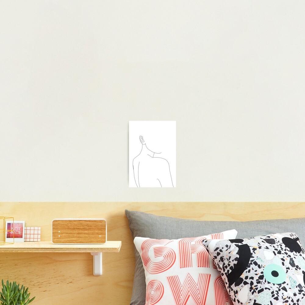 Woman's back line drawing illustration - Alina Photographic Print