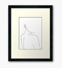 Die hintere Linie Zeichnungsillustration der Frau - Alina Gerahmtes Wandbild
