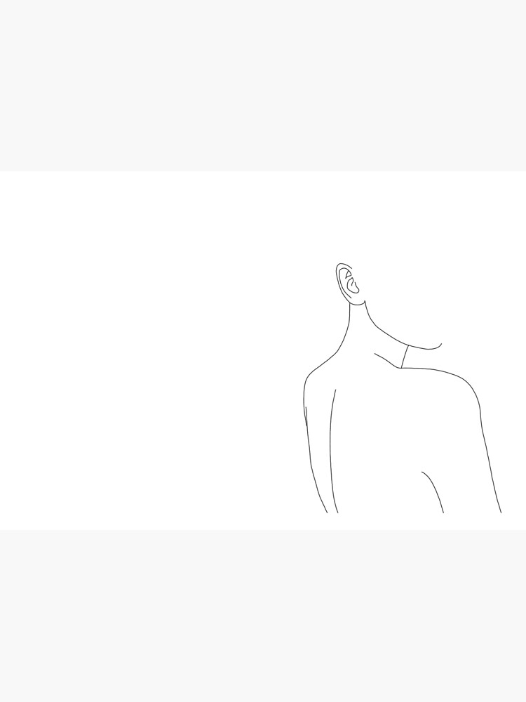 Woman's back line drawing illustration - Alina by TheColourStudy