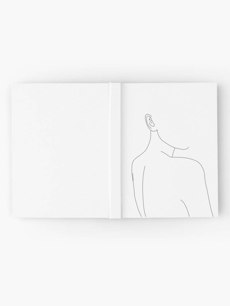 Alternate view of Woman's back line drawing illustration - Alina Hardcover Journal