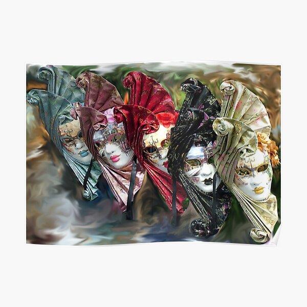 Carnival Masks Venice Poster
