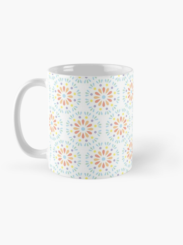 Alternate view of Pastel geometric floral pattern Mug