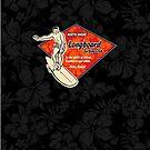 Club Surfing Diamond Hawaiian Print - Black & Red by DriveIndustries