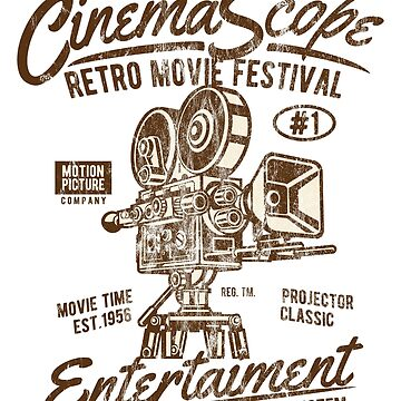 CINEMA SCOPE - Cinema and Camera Shirt Motif by superiors-shop
