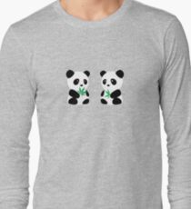 Two Pandas Long Sleeve T-Shirt