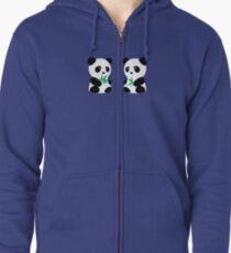 Two Pandas Zipped Hoodie
