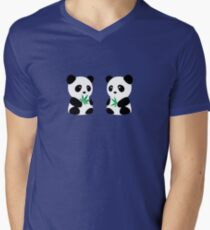 Two Pandas Men's V-Neck T-Shirt