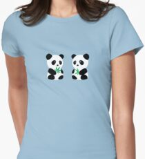 Two Pandas Women's Fitted T-Shirt