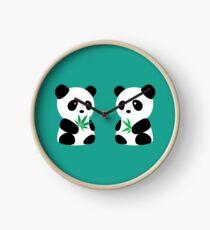 Two Pandas Clock