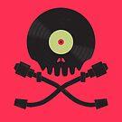 Vinyl till Death / Skull Art  by Jason Castillo