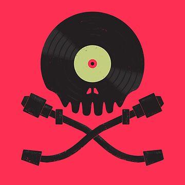 Vinyl till Death / Skull Art  by jasoncastillo