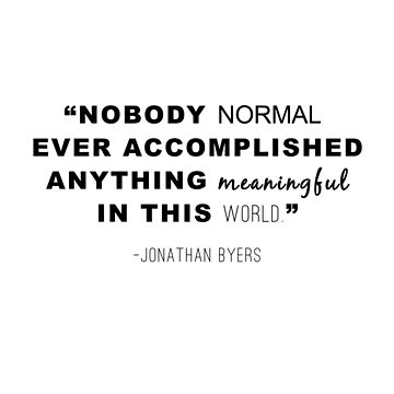 Nobody Normal - Johnathan Byers  by Geministik