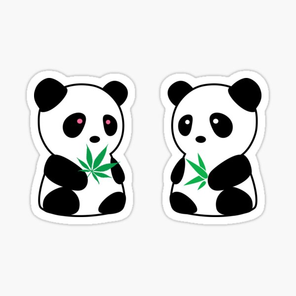 Two Pandas Sticker