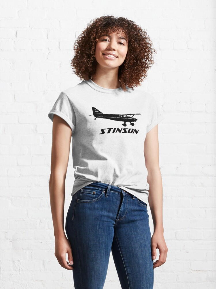 Alternate view of Stinson Aircraft with Logo Classic T-Shirt