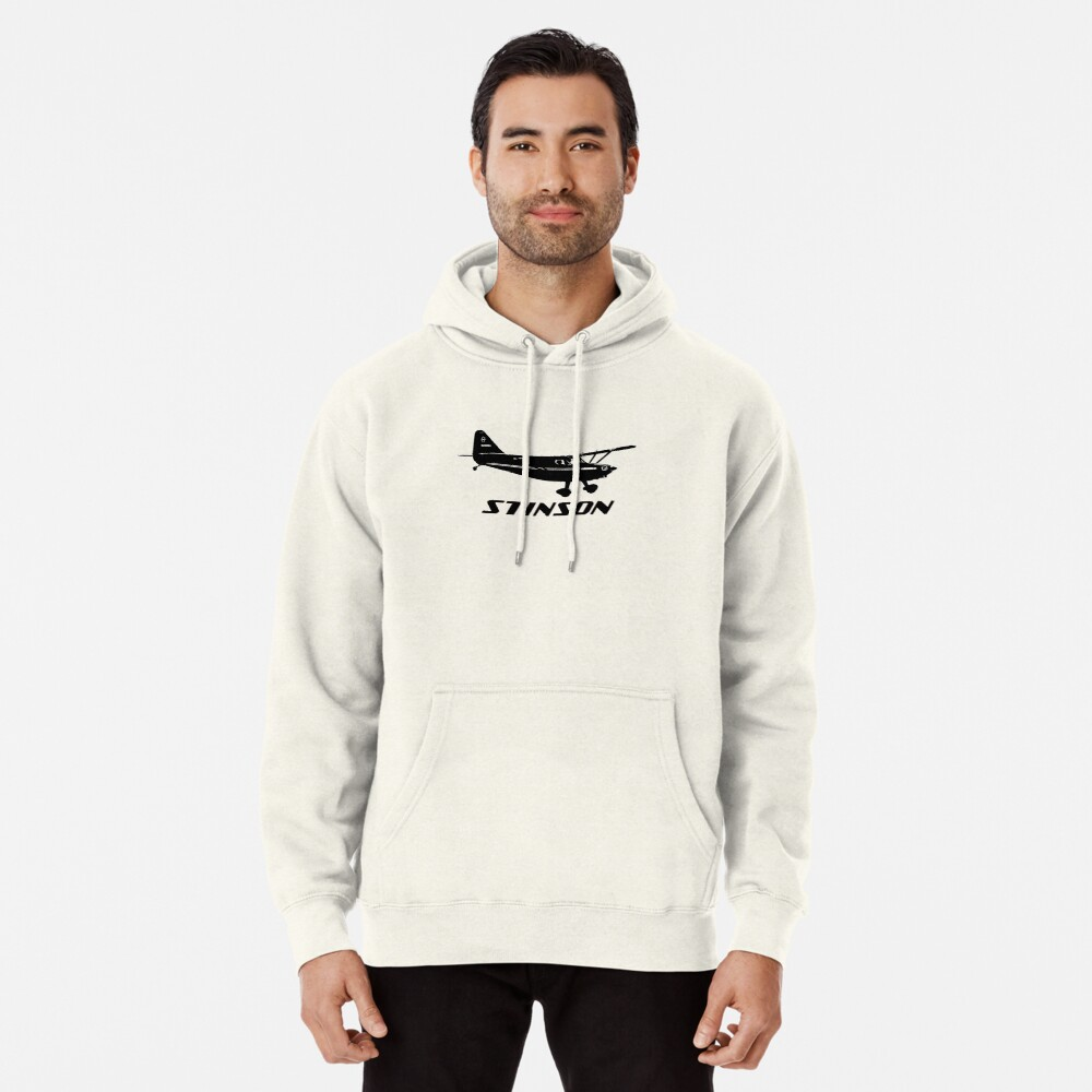Stinson Aircraft with Logo Pullover Hoodie