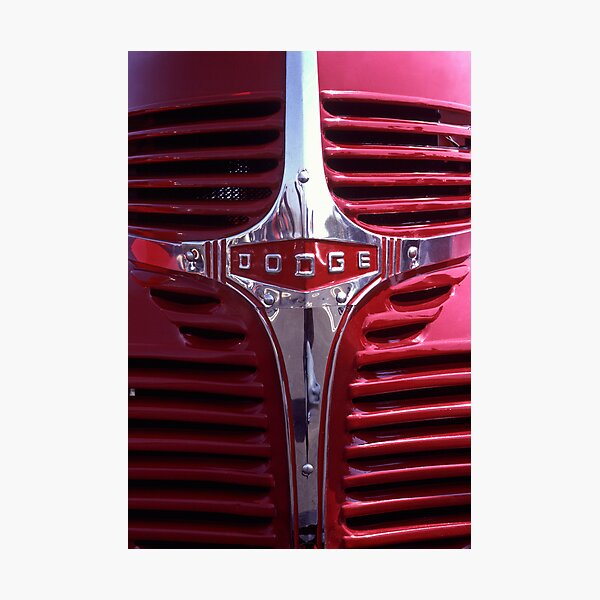 1938 Dodge Pickup Front End Photographic Print
