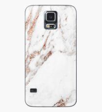 Funda/vinilo para Samsung Galaxy Mármol de veta de oro rosa