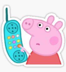 Peppa Pig Hanging Up Sticker Sticker