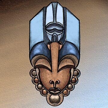 Afro queen in blue by erickwiz