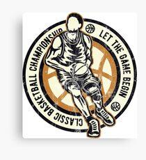 CLASSIC BASKETBALL - Retro Basketball Streetball Shirt Canvas Print