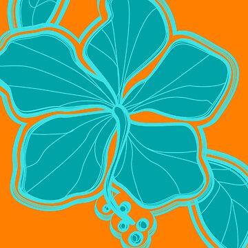Kailua Hibiscus Hawaiian Engineered Floral by DriveIndustries