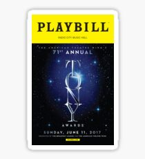 2017 Tony Awards Playbill Sticker