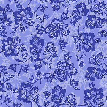Iwalani Vintage Hawaiian Floral - Lilac and Purple by DriveIndustries