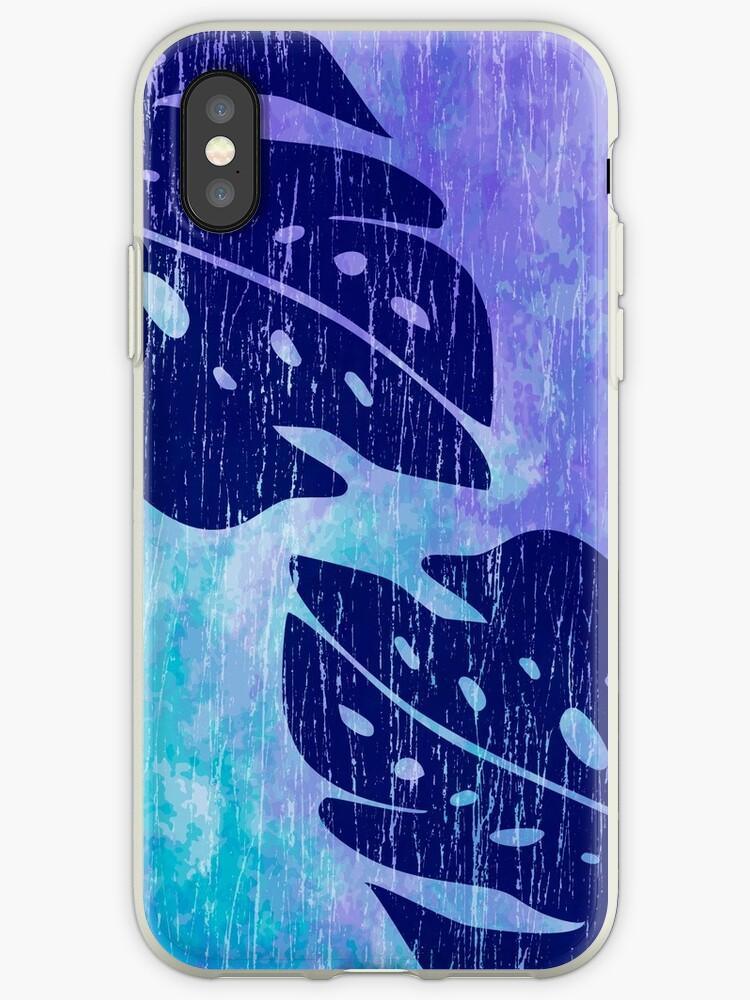 Maikai Hawaiian Monstera Leaf Tie-Dye Blend -Purple & Turq by DriveIndustries