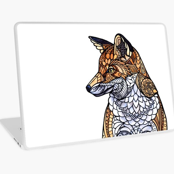 Stained Glass Fox Laptop Skin