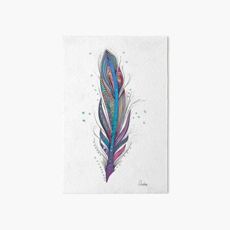 Fantastic Feather in white Art Board Print