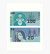 fake money Art Print
