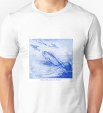 Dolphin pursuing flying fish Unisex T-Shirt