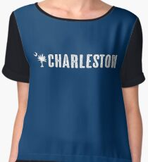 Charleston South Carolina Palm Women's Chiffon Top