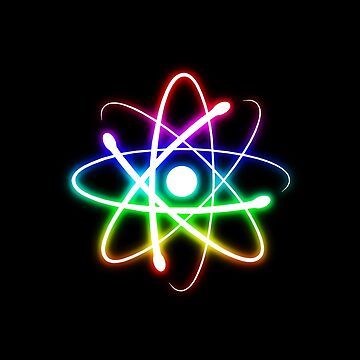 Colorful Glowing Atomic Symbol  by houk