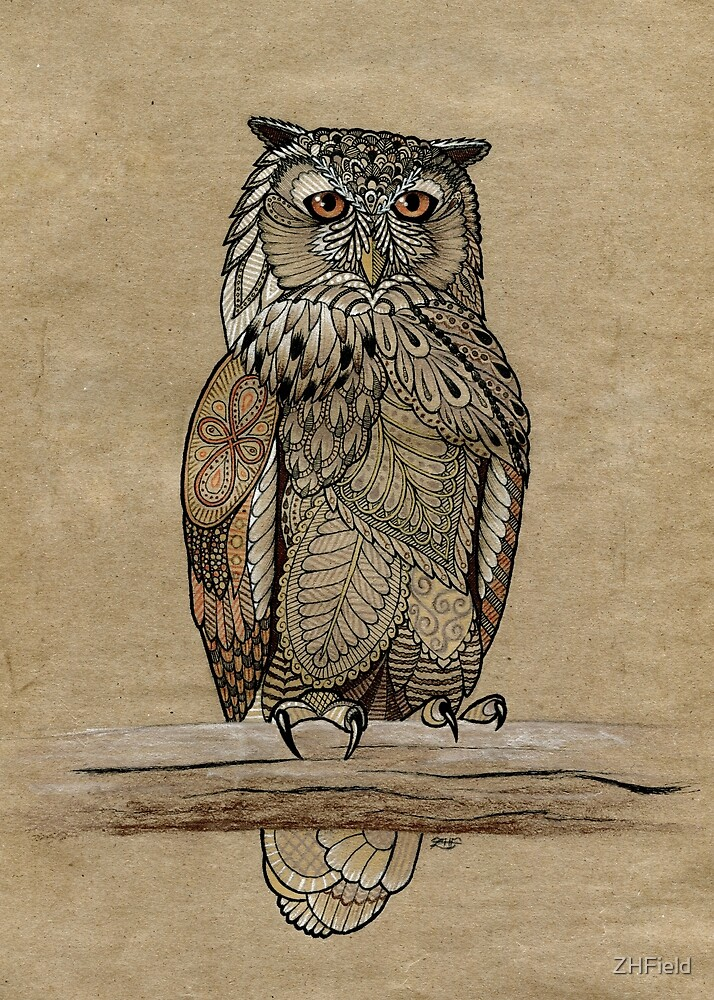 Paper Bag Owl by ZHField